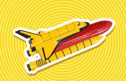 Желтый золотой космический летательный аппарат многоразового использования Стоковые Фотографии RF