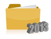 желтый дизайн иллюстрации папки 2013 Стоковая Фотография