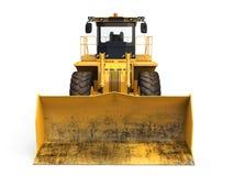 Желтый изолированный бульдозер Стоковая Фотография RF