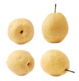 Желтый изолированный плодоовощ груши Стоковые Изображения RF