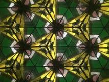 Желтый и зеленый геометрический дизайн Стоковое Фото