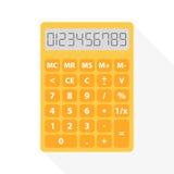 Желтый калькулятор Стоковое фото RF