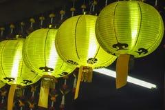 Желтый китайский фонарик Стоковые Изображения