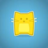 Желтый кот Стоковое Изображение