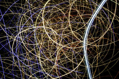 Желтый, красный, и голубой светлый дисплей, покрашенный лазер стоковые изображения