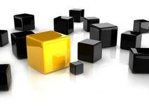 Желтый кубик иллюстрация вектора