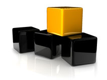 Желтый кубик бесплатная иллюстрация
