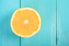 Желтый кусок грейпфрута Стоковые Фотографии RF