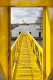 Желтый мостк корабля Стоковые Фото