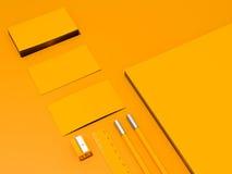 Желтый модель-макет фирменного стиля Стоковая Фотография
