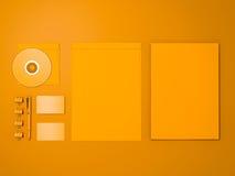 Желтый модель-макет фирменного стиля Стоковое фото RF