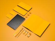 Желтый модель-макет фирменного стиля Стоковое Изображение RF