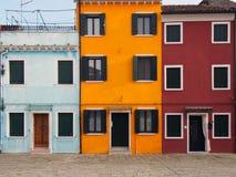Желтый дом Burano Венеция Стоковая Фотография