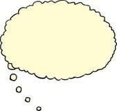 Желтый пузырь мысли иллюстрация штока