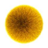Желтый пушистый шарик Стоковое Изображение