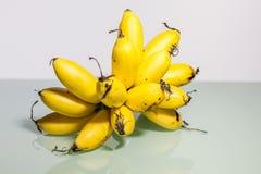 Желтый реальный банан в конце вверх Стоковое Фото