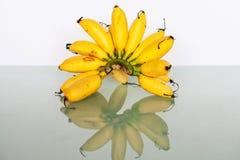 Желтый реальный банан в конце вверх Стоковое фото RF