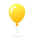 Желтый резиновый значок воздушного шара Стоковые Изображения
