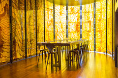 Желтый ресторан Стоковая Фотография RF