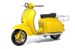 Желтый ретро самокат Стоковая Фотография RF
