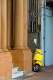 Желтый самокат Стоковое Фото