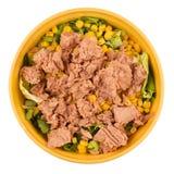 Желтый салат тунца шара Стоковое Изображение