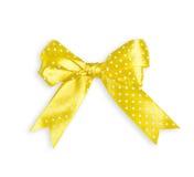 Желтый смычок на белизне Стоковое Изображение RF