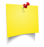 Желтый стикер Стоковые Изображения RF