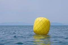 Желтый томбуй для регаты Стоковое Изображение RF