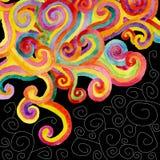 желтый цвет акварели стародедовской предпосылки темный бумажный Стоковые Фото