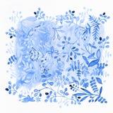 желтый цвет акварели стародедовской предпосылки темный бумажный Изображение цветка Цветки на впечатляющем su иллюстрация штока