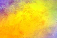желтый цвет акварели стародедовской предпосылки темный бумажный стоковое изображение rf