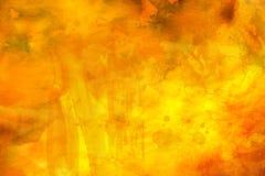 желтый цвет акварели стародедовской предпосылки темный бумажный стоковая фотография