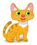 желтый цвет вектора иллюстрации кота шаржа Стоковая Фотография