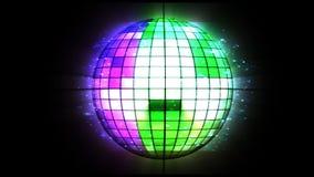желтый цвет вектора померанцового красного цвета предмета зеленого цвета диско шарика иллюстрация штока