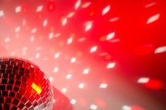 желтый цвет вектора померанцового красного цвета предмета зеленого цвета диско шарика Стоковое Изображение RF