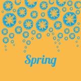 желтый цвет весны лужка одуванчиков предпосылки полный Стоковое Фото