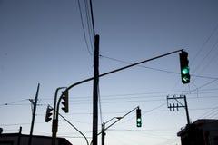 желтый цвет движения зеленых светов красный Стоковое Фото