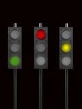 желтый цвет движения зеленых светов красный иллюстрация вектора