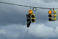 желтый цвет движения зеленых светов красный Стоковое Изображение RF