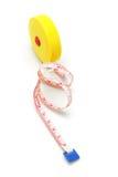 желтый цвет ленты измерения пластичный Стоковые Фото