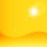Желтый цвет лета с предпосылкой луча блеска солнца () Стоковая Фотография RF