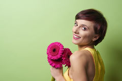 желтый цвет женщины весны принципиальной схемы зеленый Стоковая Фотография