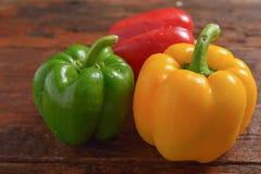 желтый цвет зеленого перца красный Стоковые Фото