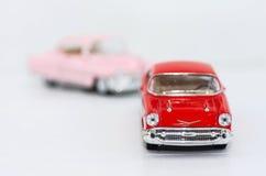желтый цвет игрушки таксомотора автомобилей шины Стоковые Фотографии RF
