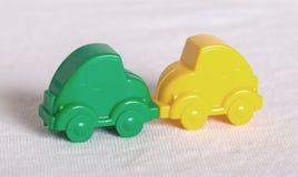 желтый цвет игрушки таксомотора автомобилей шины Стоковое Изображение
