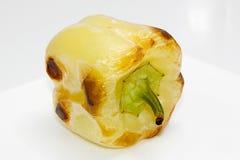 Желтый цвет испек зажаренные в духовке перцы Стоковое фото RF