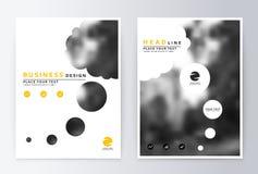 Желтый цвет и белизна дизайна крышки Брошюра шаблона иллюстрация штока