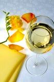 Желтый цвет и вино Стоковое фото RF