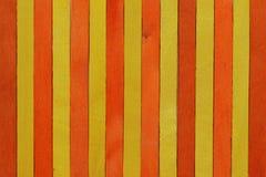Желтый цвет и оранжевая деревянная предпосылка Стоковое Изображение